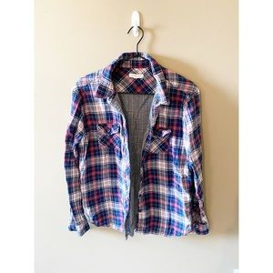 Beach Lunch Lounge Flannel Button Up